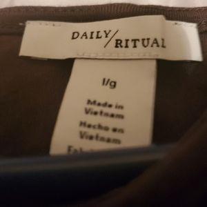 Daily Ritual Olive Green Hi-Low Dress, L